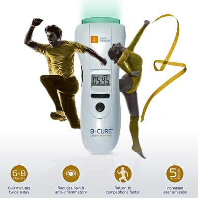 B-CURE Laser SPORT PRO is perfect for sports and activity related injuries