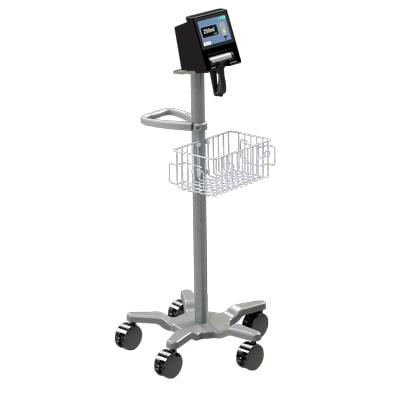 BBS Revolution Bladder Scanner on a trolley with castor wheels