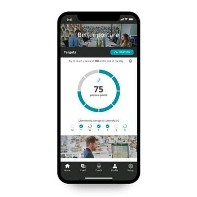 Image of the 8sense app on the smartphone