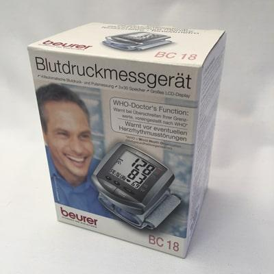 Beurer BC 18 Wrist Blood Pressure Monitor - boxed