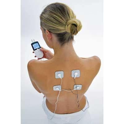 Image of upper back pain treatment with Beurer EM 29