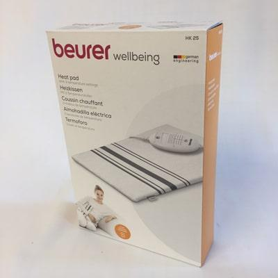 Image of Beurer HK 25 with grey stripes in packing box