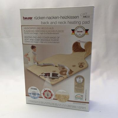 Beurer HK 58 Back and Neck Heat Pad boxed