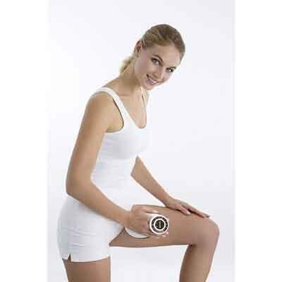 Image of user with Beurer MG 510 without handle massaging inner thigh