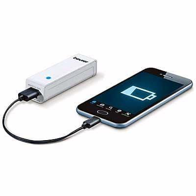 Image of phone charged by powerbank
