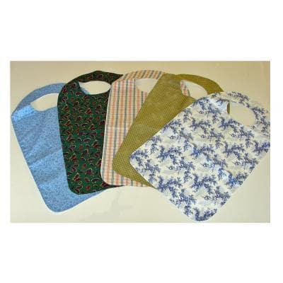 Adult Bibs with Cotton Surface