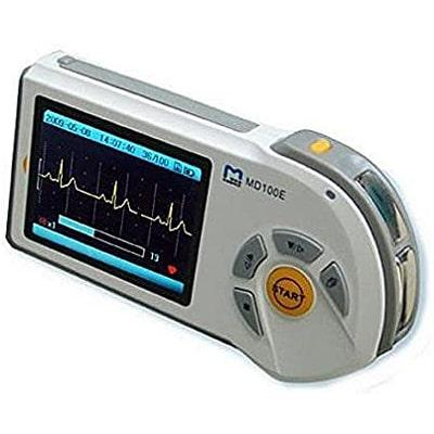 Image of compact ECG monitor for home use
