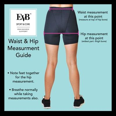 Image of how to measure for fit - EVB Sport Garments