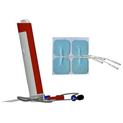 Image of evoStim E and skin electrodes