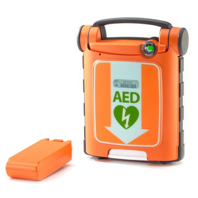 Powerheart G5 AED Fully Automatic Defibrillator and Intellisense battery