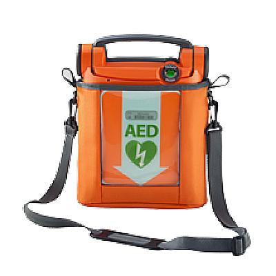 Powerheart G5 AED in carry sleeve