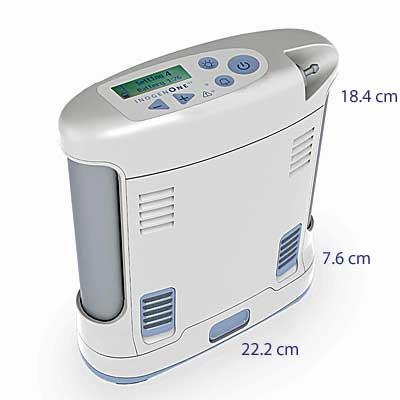 Inogen One G3 Portable Oxygen Concentrator dimensions