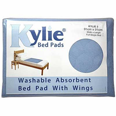 Kylie Incontinence Bed Pad in Blue in packaging