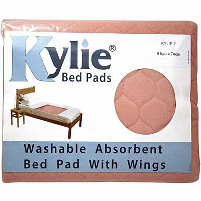 Kylie Incontinence Bed Pad in Pink in packaging