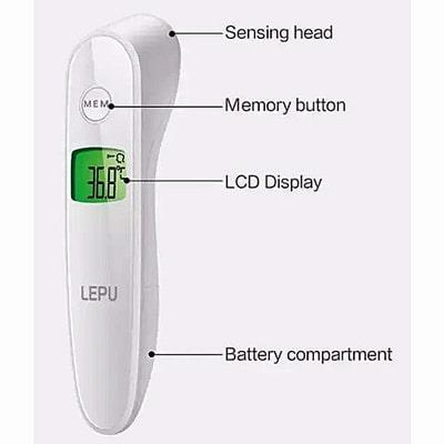Image of LEPU Non-Contact Thermometer controls