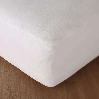 Image of waterproof mattress protector fit over mattress corner