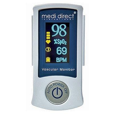 Medi Direct Vascular Health Monitor front display with measurements