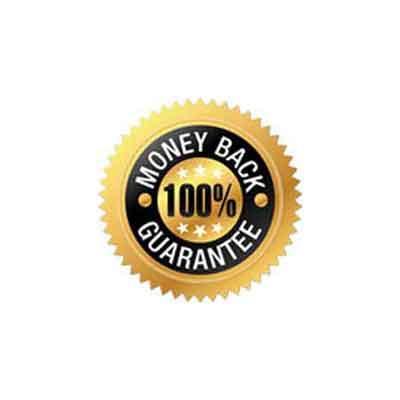 Image of 100% money back guarantee logo