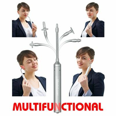 TinniTool MultiLaser is multifunctional with attachments