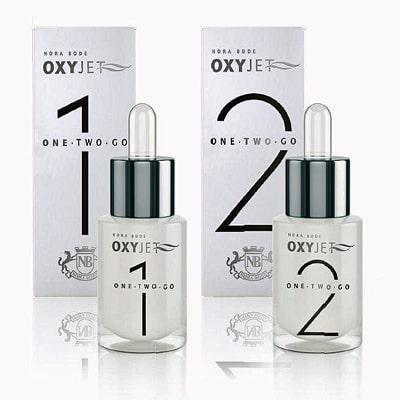 OXYJET Serums 1 & 2 infuse dermis with microencapsulated oxygen molecules and unique actives