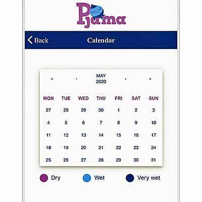 Image of Calendar on Pjama App