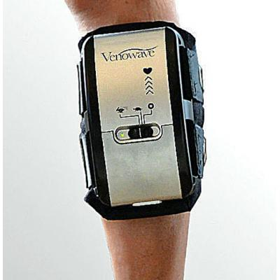 Venowave VW5-10 MObile Compression Device strapped on