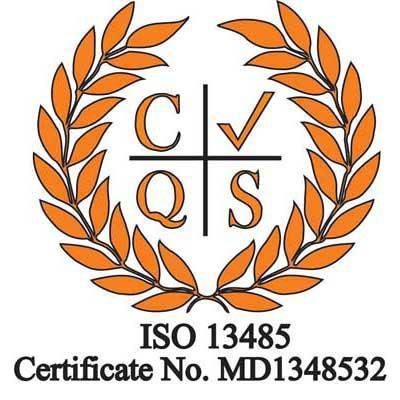 Image of ISO 13485:2016 accreditation