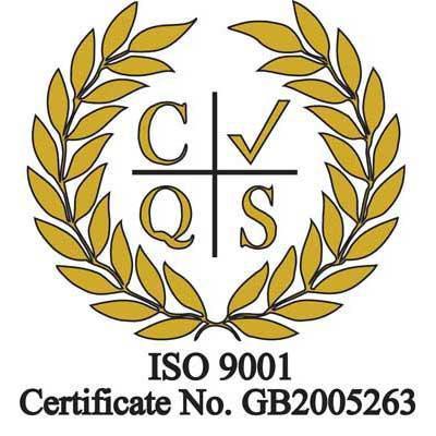 Image of ISO 9001:2015 accreditation logo