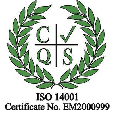 Image of ISO 14001 : 2015 accreditation