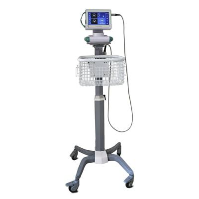 Wheeled trolley with basket makes AvantSonic Z3 great for clinics and hospitals