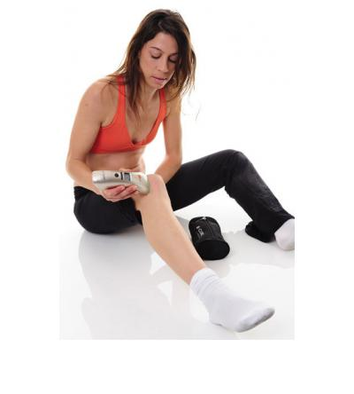Treating knee pain with B-CURE Laser.