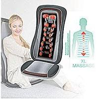 Image of a Shiatsu seat cover and a lady user