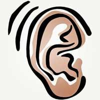 Image of ear picking up sounds