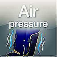 Image of air pressure therapy device for legs