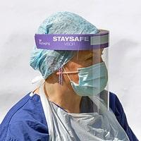 Nurse wearing Staysafe Visor