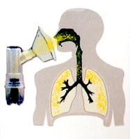 Using nebuliser.