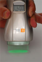 B-CURE Laser Beam is indicated by green LED.